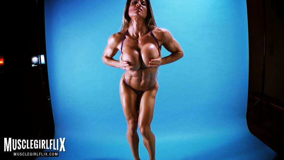 fitness model topless huge tits