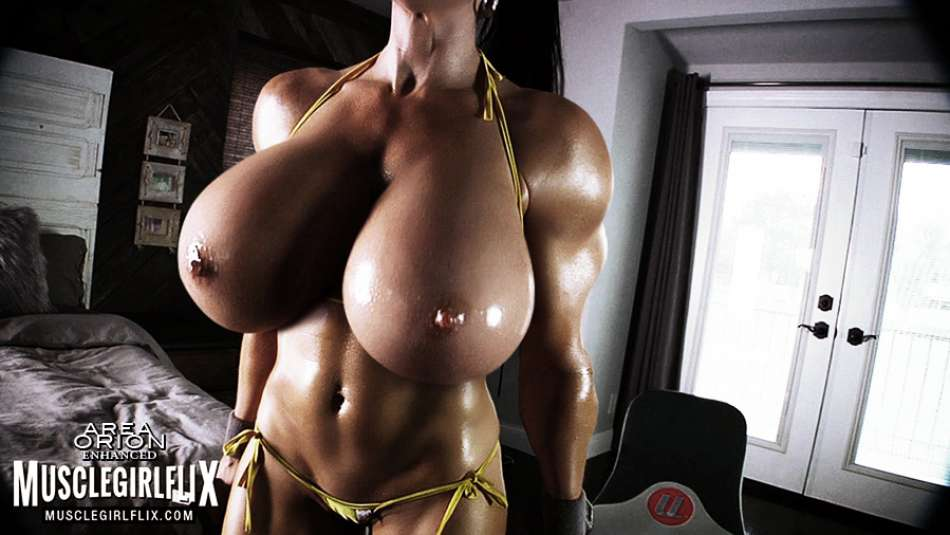 massive big tits and muscle growth fantasy