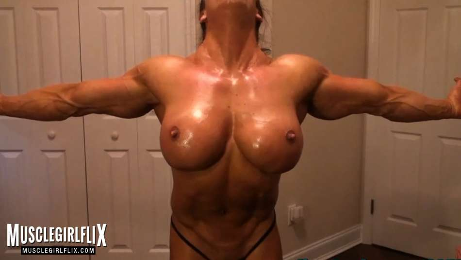 fbb angie salvagno huge tits and muscle