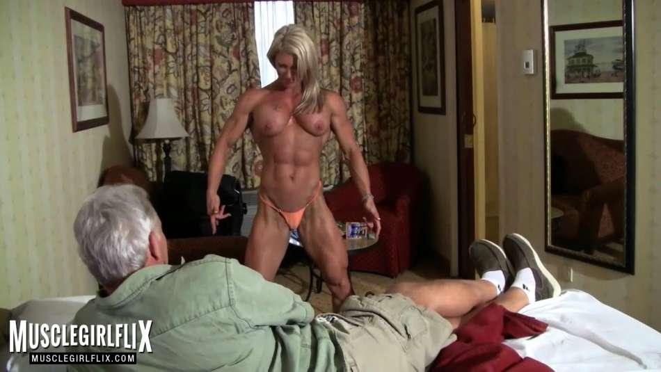 amazing body on muscle girl ginger martin