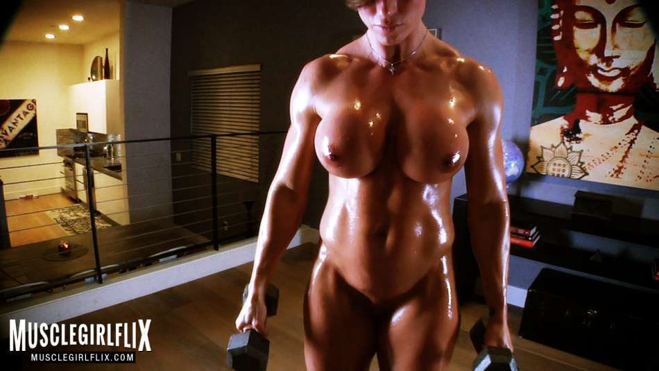 Goddess Rapture pumping hot muscle nude
