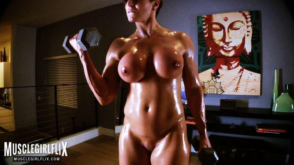 Goddess Rapture sexy muscle girl workout