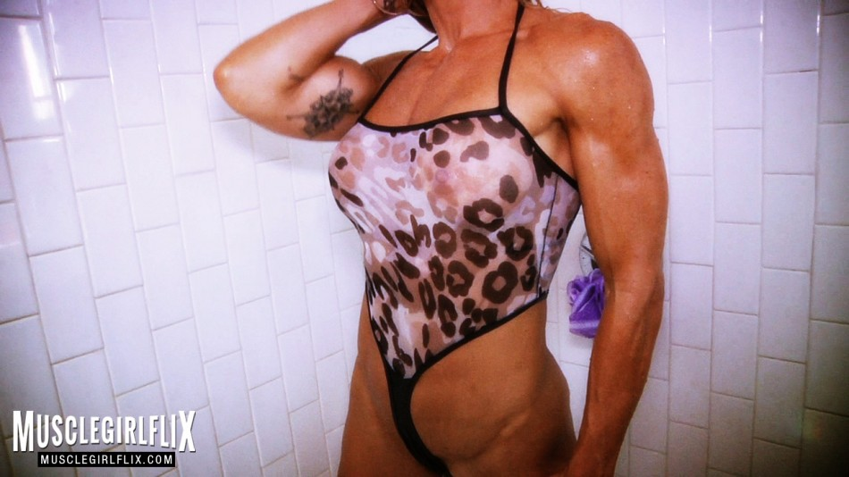 Jill Jaxen wet and wild in the shower