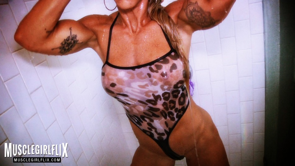 Jill Jaxen sexy babe huge biceps