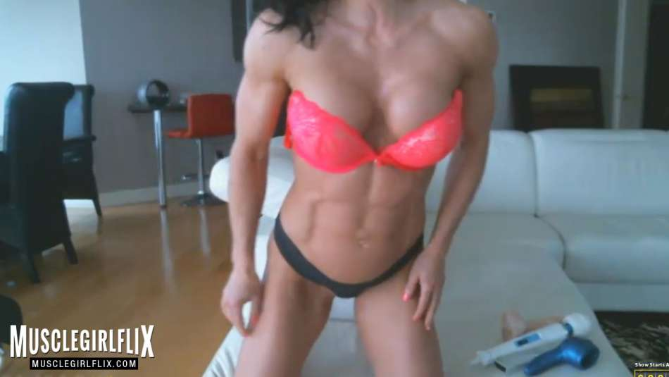 Sexy Muscle Girl Athletic Physique