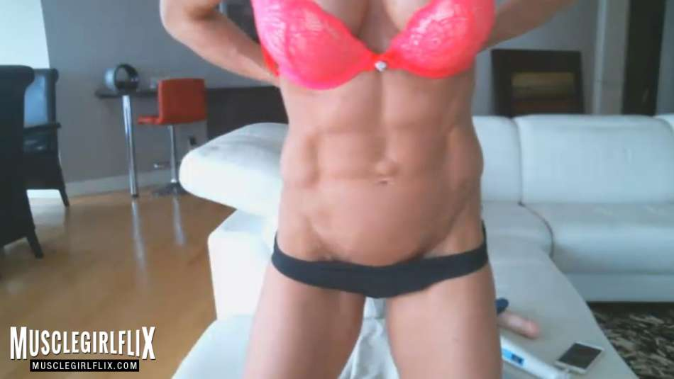 Sexy Muscle Girl Super Hot Athletic Frame
