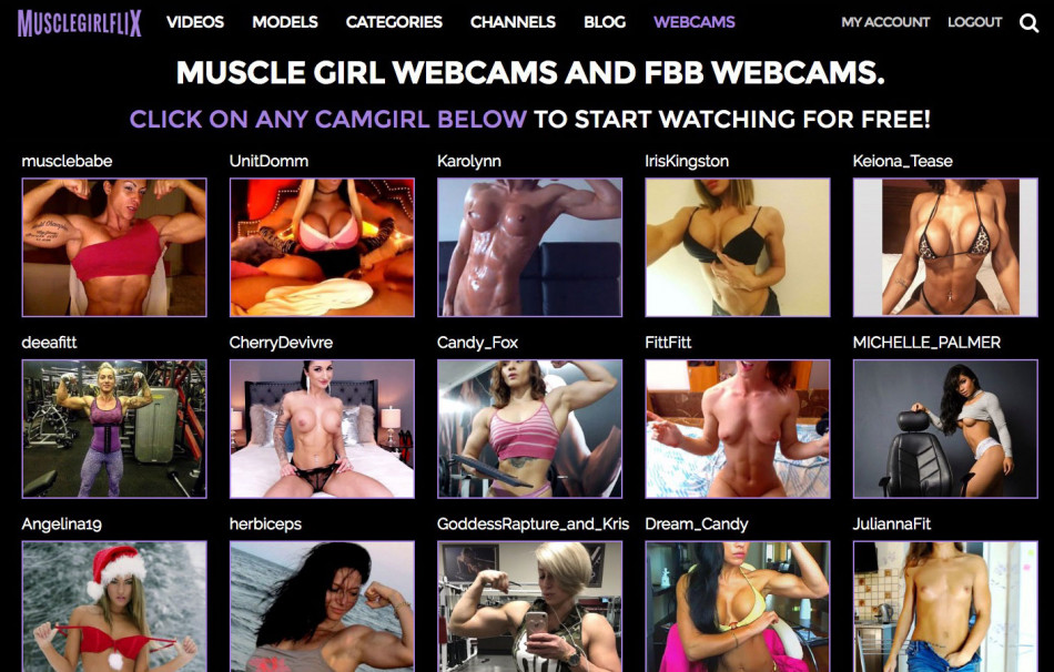 Muscle Girl Flix Live Wecbams