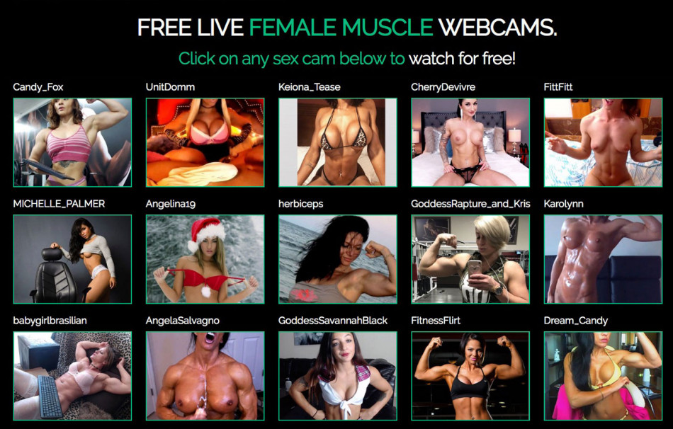 I Love Female Muscle Live Webcams