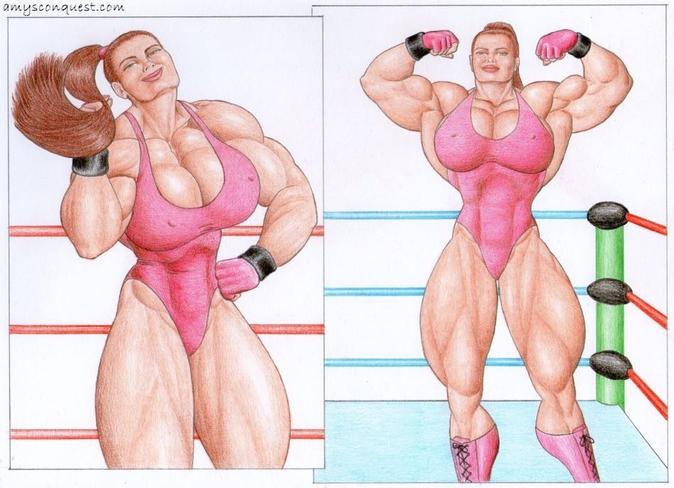 Crazy huge female bodybuilder Jane from Amy's Conquest