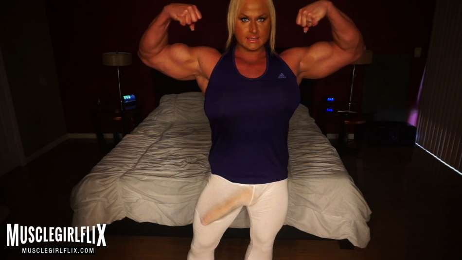 fbb Nurye Even bicep flex and big dick bulge in her pants