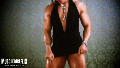 Amazing Thick Muscle Female Bodybuilder Karen Garrett