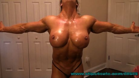 Angela Salvagno Badass Female Bodybuilder Porn Star