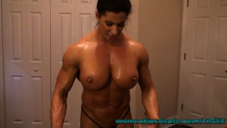 Massive Female Muscle Rules the Gym Angela Salvagno