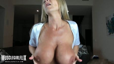 Busty MILF Ainslee Divine Showing Off Big Tits