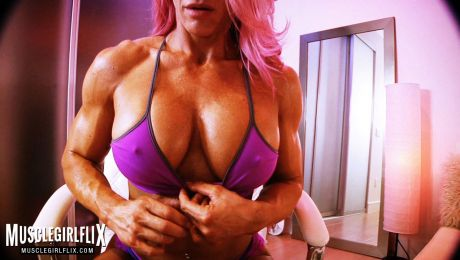 Female Bodybuilder Jill Jaxen Webcam Video