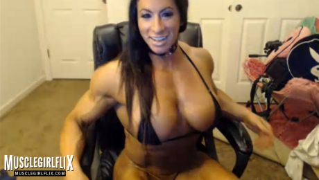 Hot as Fuck Live Female Bodybuilder Angela Salvagno