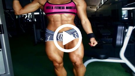 Massive Muscular Fitness Model Legs Workout
