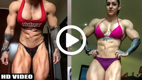 Female Muscle Extremely Pec Workout Video