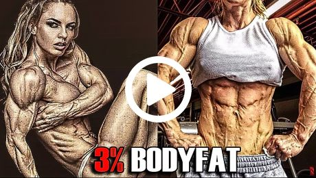 Extreme Low Body Fat Female Bodybuilder