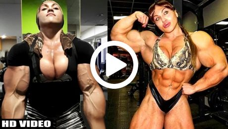 Massive Female Bodybuilder Will Blow You Away