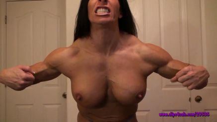 massive fbb flexing muscle on webcam
