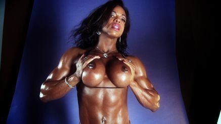 Topless shot of the amazing physique of Alexis Ellis.