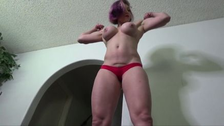 Goddess Rapture topless flex and tease