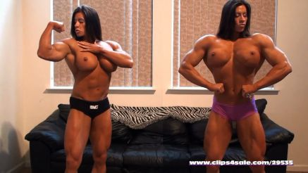 Angela Salvagno side by side with her twin sister