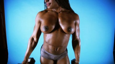 Ashley Starr working out nude.