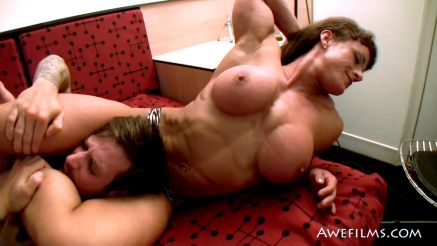female bodybuilder topless big fake tits