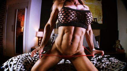 muscle milf maria garcia vascular abs hard muscle
