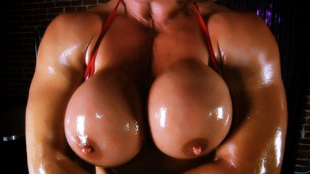 Kathy Connors Hot Babe Boobs Close Up