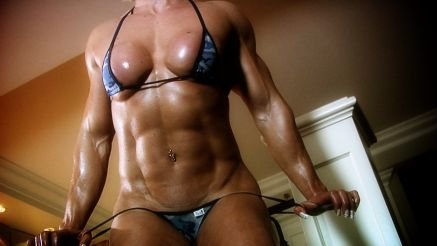 Brigita Brezovac showing tight abs.