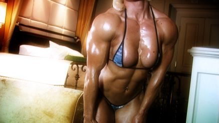 Brigita Brezovac thick chest and shoulders.