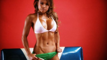 Carla Maria Cadotte showing off her fit body.