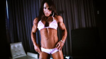 Carla Rossi massive female bodybuilder vascularity