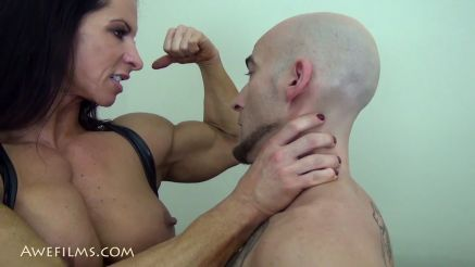 insanely ripped she hulk dominating guy