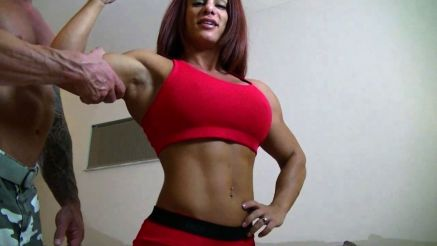 Mz Devious showing off her muscles