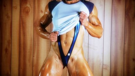 Brigita Brezovac oily muscles with huge veins popping out