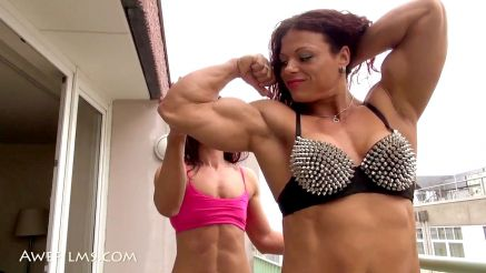 female bodybuilder Oana Hreapca muscle worship big bicep