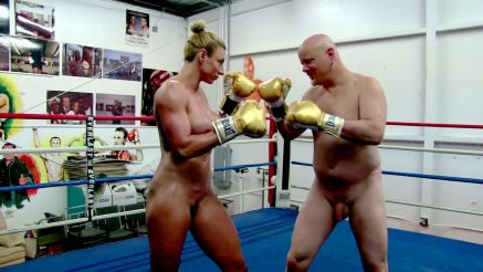 full nude female bodybuilder mixed boxing