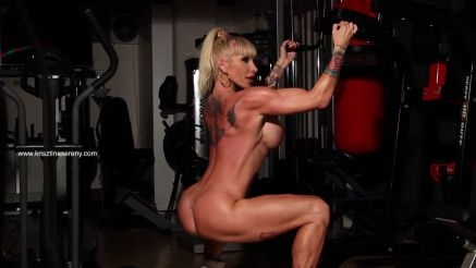 naked workout fitness model Krisztina Sereny