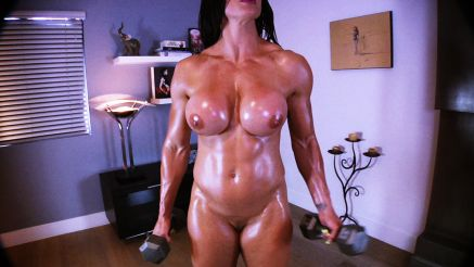 Goddess Rapture full nude bicep workout video