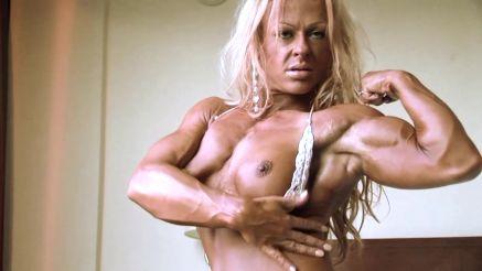 Dorothy Trojanowicz topless muscle flex