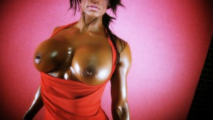 Hot topless fitness model Jennifer Love