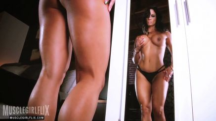 Jennifer Love crazy hot fitness babe on the mirror