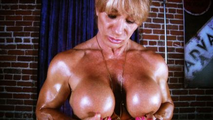 Kathy Connors flaunting topless tits