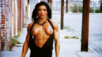 Marina Lopez Insaney Hot Muscle Girl On The Street