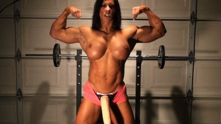 female bodybuilder massive cock muscle futa