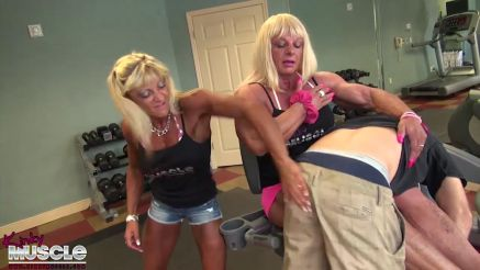 Muscledoll PussyCatDoll humiliating a guy at the gym